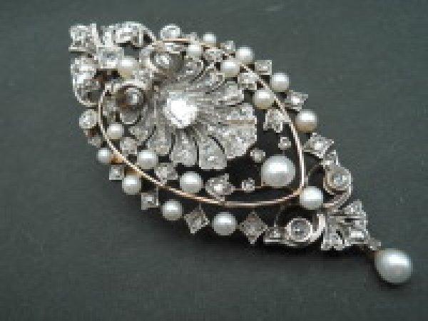 画像1: ダイヤモンド・パール シェルのジュエリー (1)