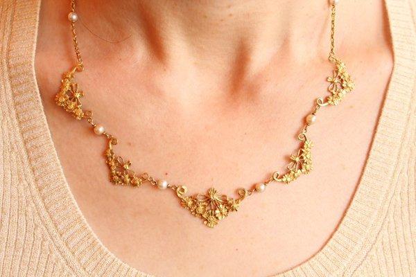 画像1: マーガレット花束ネックレス (1)