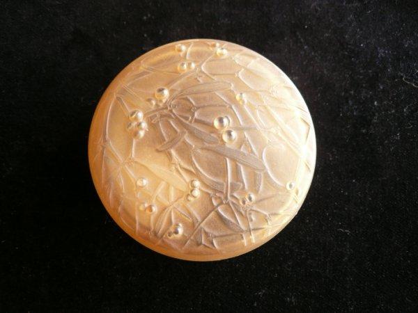 画像1: ラリック 宿り木紋蓋物 (1)
