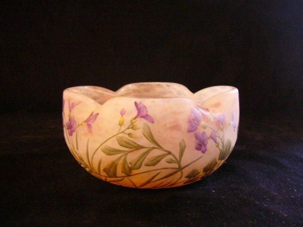 画像1: ドーム 紫なずな 花紋小鉢 (1)