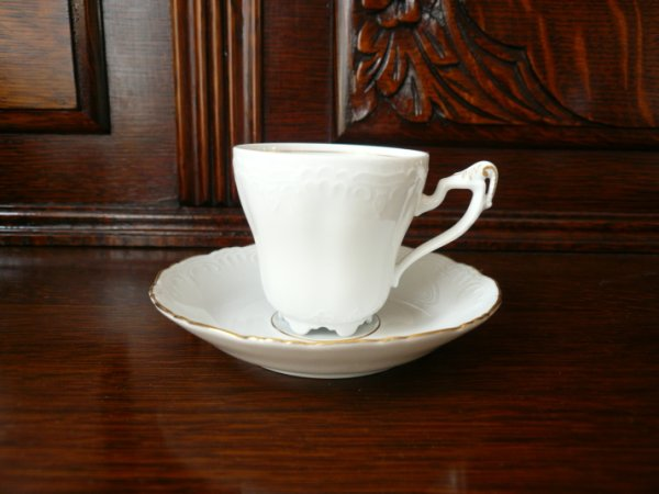画像1: ババリア ホワイトカップ&ソーサー (1)