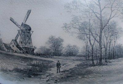 画像2: ドーム オランダ風景文 大鉢