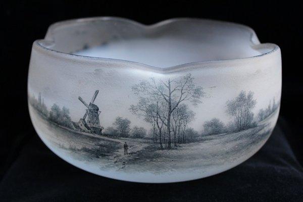 画像1: ドーム オランダ風景文 大鉢 (1)