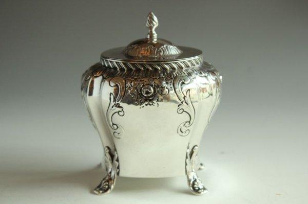 画像1: 純銀のティーキャディー (1)