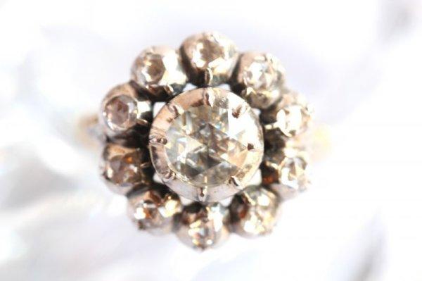 画像1: ローズカットダイヤモンド リング (1)