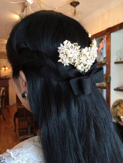 画像3: フラワービジュー&パール 髪飾り
