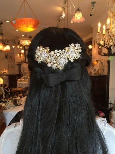 画像1: フラワービジュー&パール 髪飾り