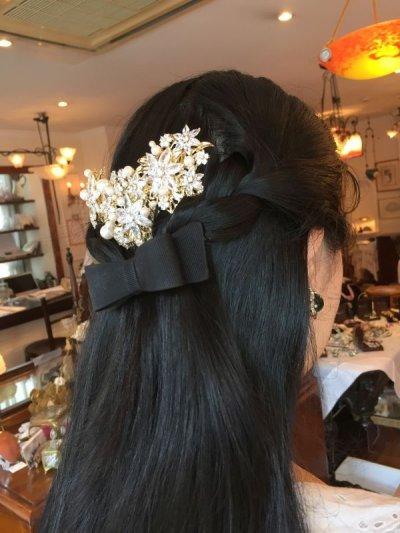 画像2: フラワービジュー&パール 髪飾り