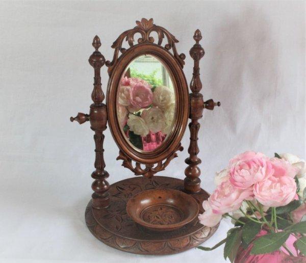 画像1: 木製 鏡台 (1)