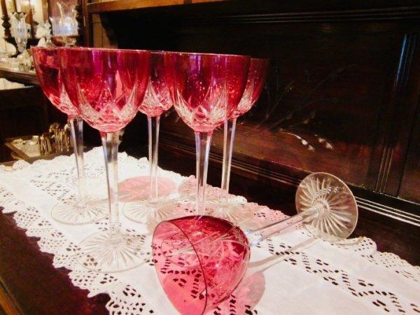 画像1: バカラ ラインワイングラスセット  (1)
