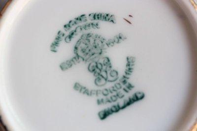 画像3: クラウン スタッフォードシャー デミタスカップ&ソーサー ペア