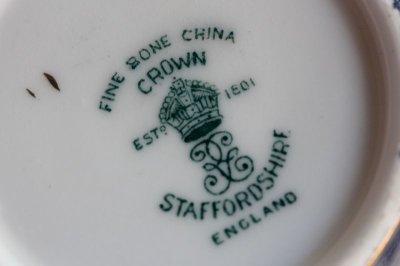 画像2: クラウン スタッフォードシャー デミタスカップ&ソーサー ペア