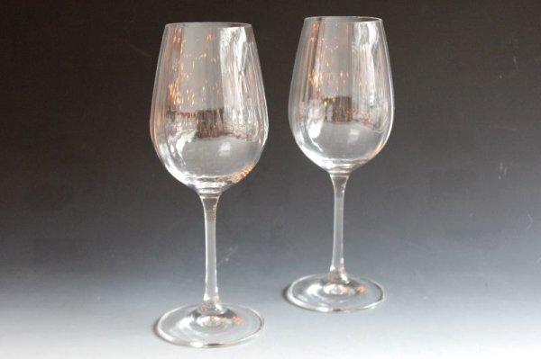画像1: ボヘミアクリスタル ワイングラス ペア (1)